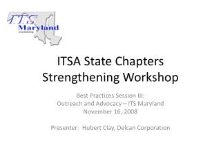 ITSA State Chapters Strengthening Workshop