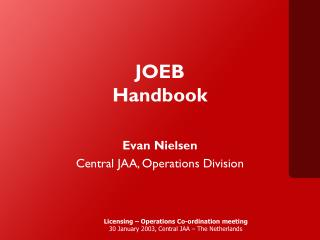 JOEB  Handbook