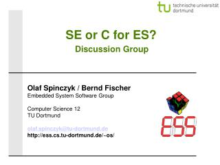 SE or C for ES? Discussion Group