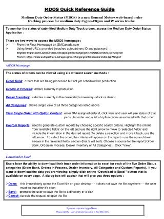 MDOS Quick Reference Guide