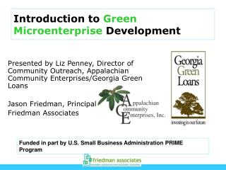 Introduction to  Green Microenterprise  Development