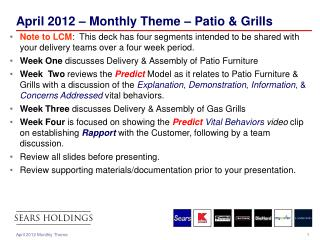 April 2012 – Monthly Theme – Patio & Grills