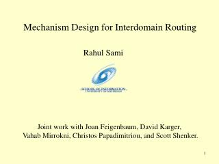 Mechanism Design for Interdomain Routing