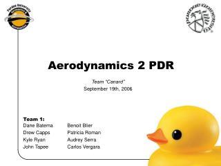 Aerodynamics 2 PDR
