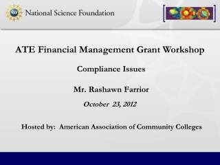 Compliance Issues Mr. Rashawn Farrior