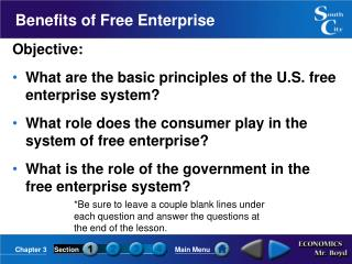 Benefits of Free Enterprise