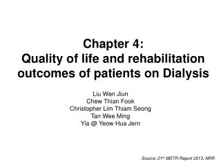 Chapter 4: Quality of life and rehabilitation outcomes of patients on Dialysis