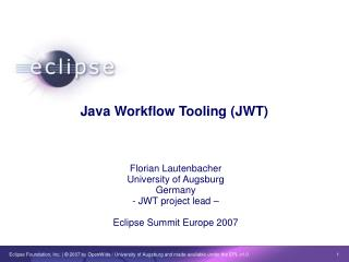 Java Workflow Tooling (JWT)