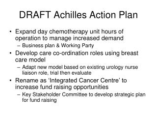DRAFT Achilles Action Plan