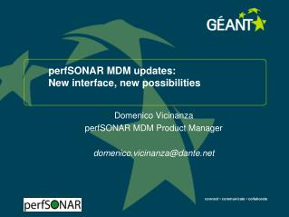 perfSONAR MDM updates: New interface, new possibilities