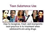 Teen Substance Use