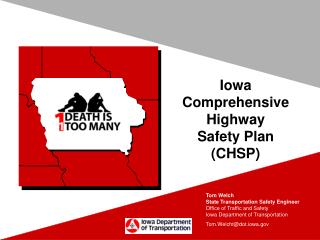 Iowa  Comprehensive Highway   Safety Plan  (CHSP)