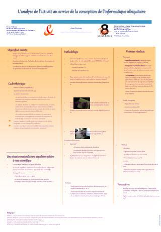 L'analyse de l'activité au service de la conception de l'informatique ubiquitaire