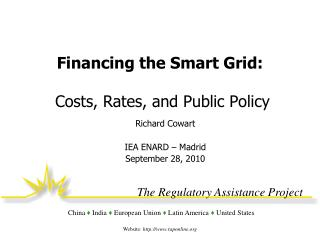 Financing the Smart Grid:  Costs, Rates, and Public Policy