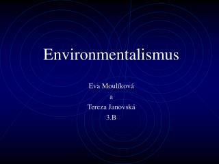 Environmentalismus
