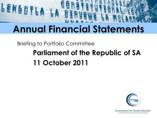 Annual Financial Statements