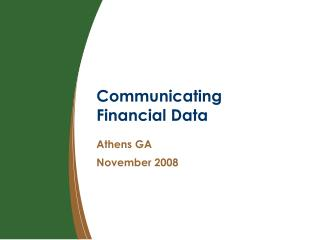 Communicating Financial Data