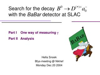 Search for the decay                         with the  BaBar  detector at SLAC
