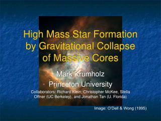 High Mass Star Formation by Gravitational Collapse of Massive Cores