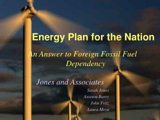 Energy Plan for the Nation