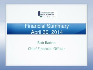 Financial Summary April 30, 2014