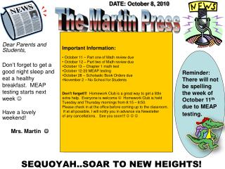 SEQUOYAH..SOAR TO NEW HEIGHTS!