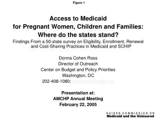 Access to Medicaid  for Pregnant Women, Children and Families:   Where do the states stand?