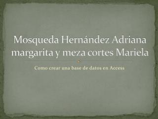 Mosqueda  Hernández Adriana  margarita y meza cortes  Mariela