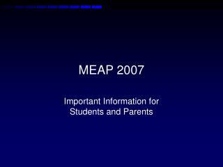 MEAP 2007