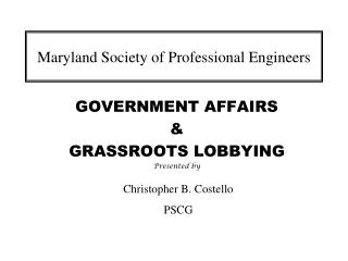 Maryland Society of Professional Engineers