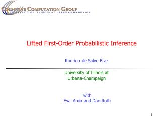 Lifted First-Order Probabilistic Inference