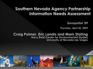 Southern Nevada Agency Partnership Information Needs Assessment