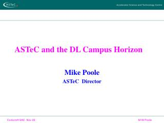 ASTeC and the DL Campus Horizon
