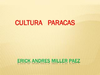 ERICK ANDRES MILLER PAEZ