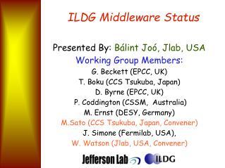 ILDG Middleware Status