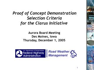 Aurora Board Meeting Des Moines, Iowa Thursday, December 1, 2005