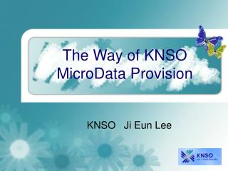 The Way of KNSO MicroData Provision