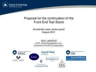 Proposal for the continuation of the Front End Test Stand Accelerator peer review panel