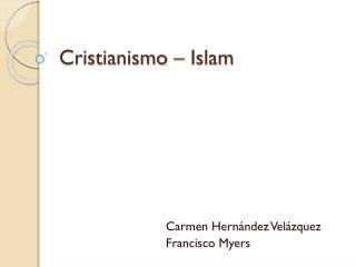 Cristianismo – Islam