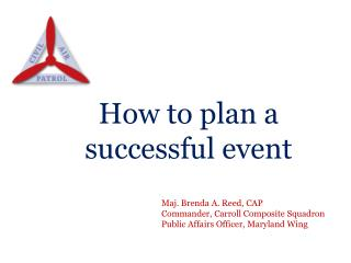 How to plan a successful event