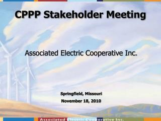 CPPP Stakeholder Meeting