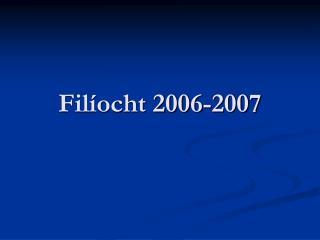Filíocht 2006-2007