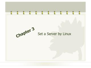 Set a Server by Linux