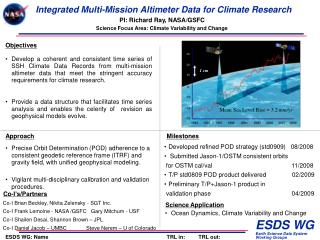 Integrated Multi-Mission Altimeter Data for Climate Research