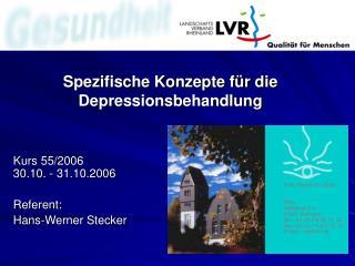 Spezifische Konzepte f r die Depressionsbehandlung