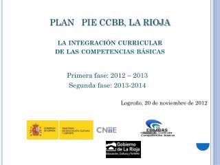 PLAN   PIE CCBB, LA RIOJA la integración curricular  de las c ompetencias básicas
