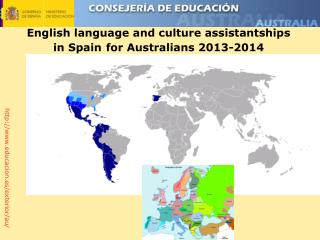 English language and culture assistantships in Spain for Australians 2013-2014