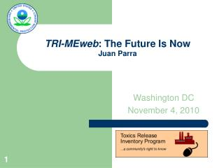 TRI-MEweb : The Future Is Now Juan Parra