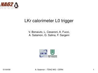 LKr calorimeter L0 trigger
