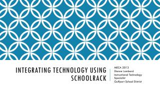 Integrating Technology using  SchoolRack